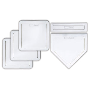 Franklin Sports Thrown Down Baseball Bases with Home Plate and Pitcher's Rubber - Rubber Base Set Perfect for Baseball, Teeball, and Kickball - Five Piece White - Ctfitnesswear