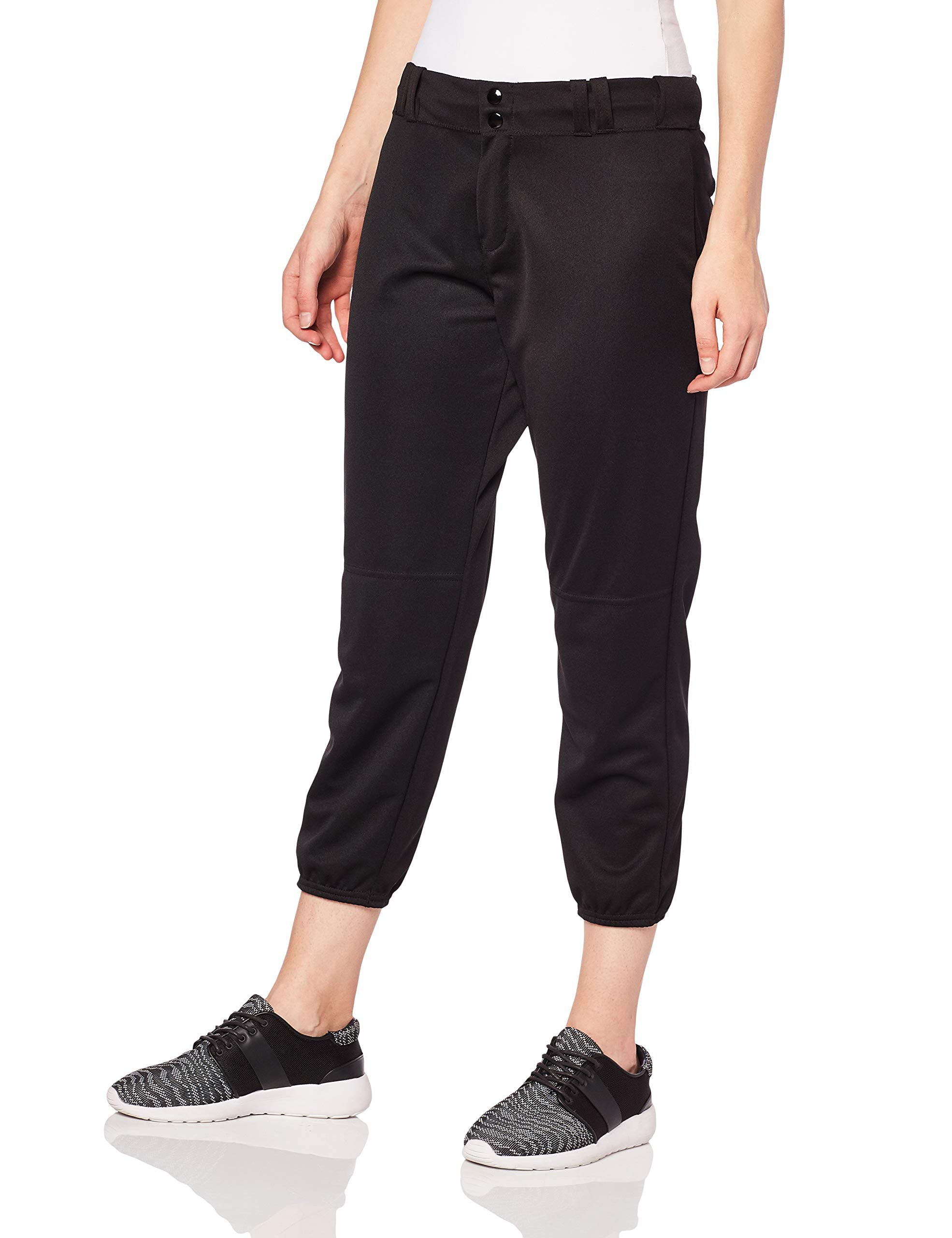 Alleson Ahtletic Women's Fast Pitch Softball Belt Loop Pants, Black - Ctfitnesswear