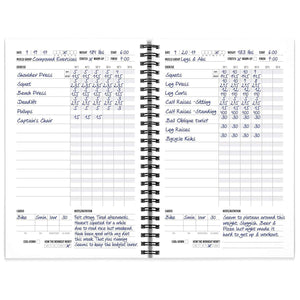 Workout Log Book & Fitness Journal - 25-Week Designed by Experts, w/Illustrations : Track Gym, Bodybuilding & Crossfit Progress : Sturdy Binding, Thick Pages & Laminated, Protected Cover 1-Pack - Ctfitnesswear