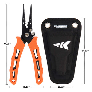 KastKing Cutthroat 7 inch Fishing Pliers, 7 inch Straight Nose - Ctfitnesswear