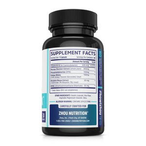 Neuro Peak Brain Support Supplement - Memory, Focus & Clarity Formula - Nootropic Scientifically Formulated for Optimal Performance - Dmae, Rhodiola Rosea, Bacopa Monnieri, Ginkgo Biloba & More - Ctfitnesswear