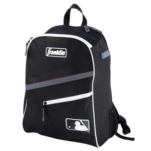 Franklin Sports MLB Batpack Bag - Youth Baseball, Softball and Teeball Bag - Equipment Bag for Sports - Bag Holds Bats (2) and Includes Fence Hook - Black/Grey/White - Ctfitnesswear