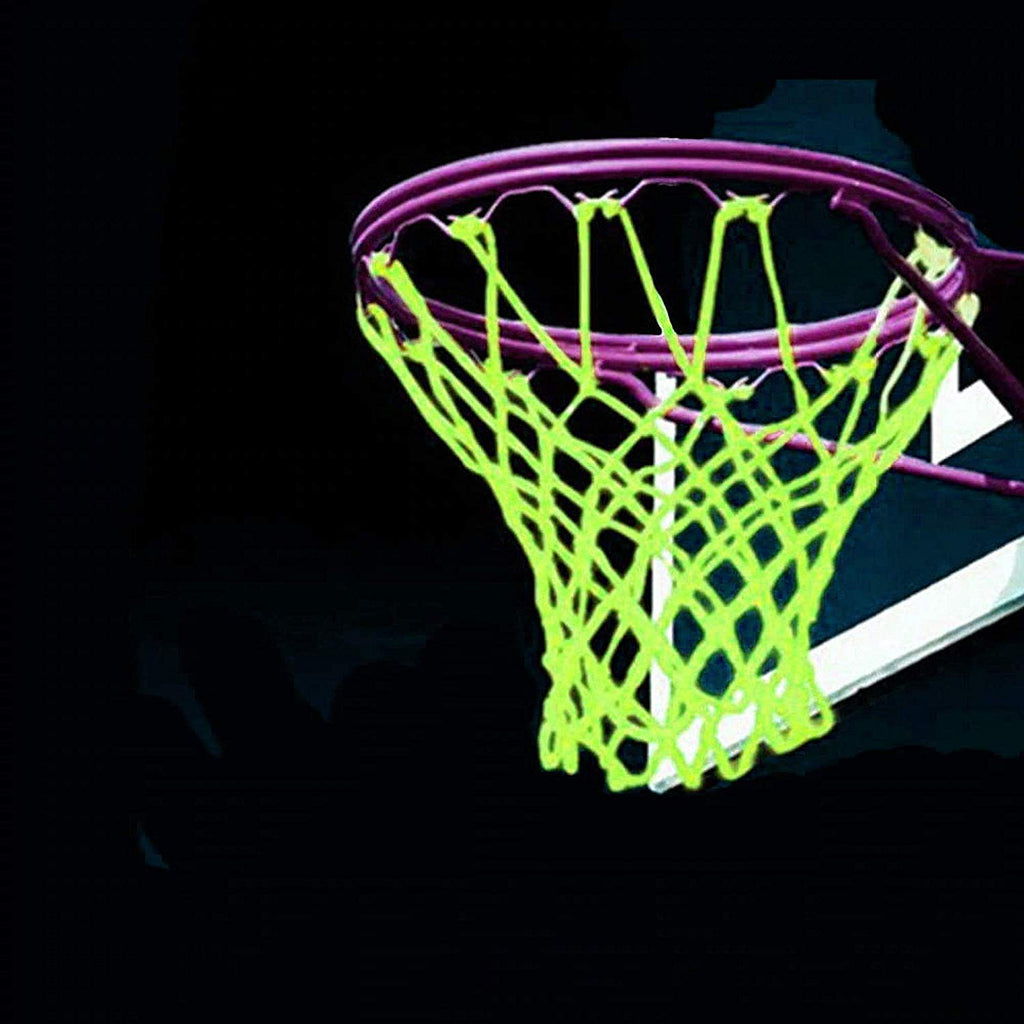 LEADTEAM Basketball Net Luminous Outdoor Glow in The Dark Portable Sun Powered Sports Nylon Glowing Night - Ctfitnesswear