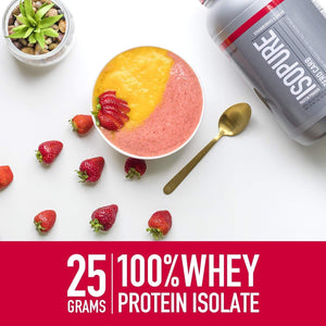 Isopure Zero Carb, Keto Friendly Protein Powder, 100% Whey Protein Isolate, Flavor: Creamy Vanilla, 3 Pounds - Ctfitnesswear