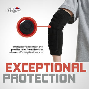 Bodyprox Elbow Protection Pads 1 Pair, Elbow Guard Sleeve - Ctfitnesswear
