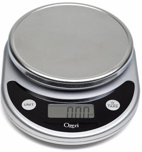 Ozeri ZK14-S Pronto Digital Multifunction Kitchen and Food Scale, Elegant Black, 8.25 - Ctfitnesswear