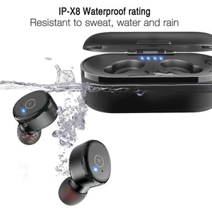 TOZO T10 Bluetooth 5.0 Wireless Earbuds with 【Wireless Charging Case】 IPX8 Waterproof TWS Stereo Headphones in-Ear Built-in Mic Headset Premium Sound with Deep Bass for Sport - Ctfitnesswear