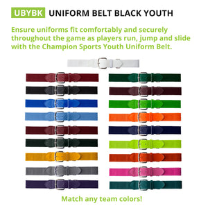Champion Sports Adult/Youth, Baseball/Softball Uniform Belt - Ctfitnesswear
