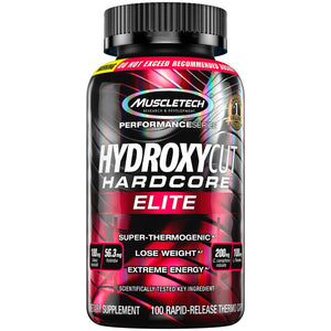 Hydroxycut Hardcore Elite Weight Loss Supplement, Designed for Hardcore Weight Loss, Energy & Enhanced Focus, 50 Servings (100 Pills) - Ctfitnesswear