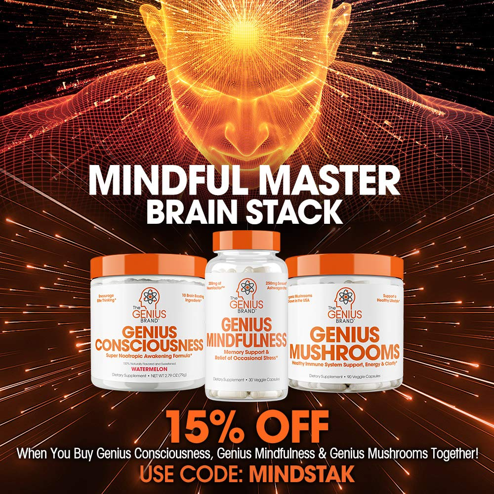 Genius Consciousness - Super Nootropic Brain Booster Supplement - Enhance Focus, Boost Concentration & Improve Memory - Ctfitnesswear