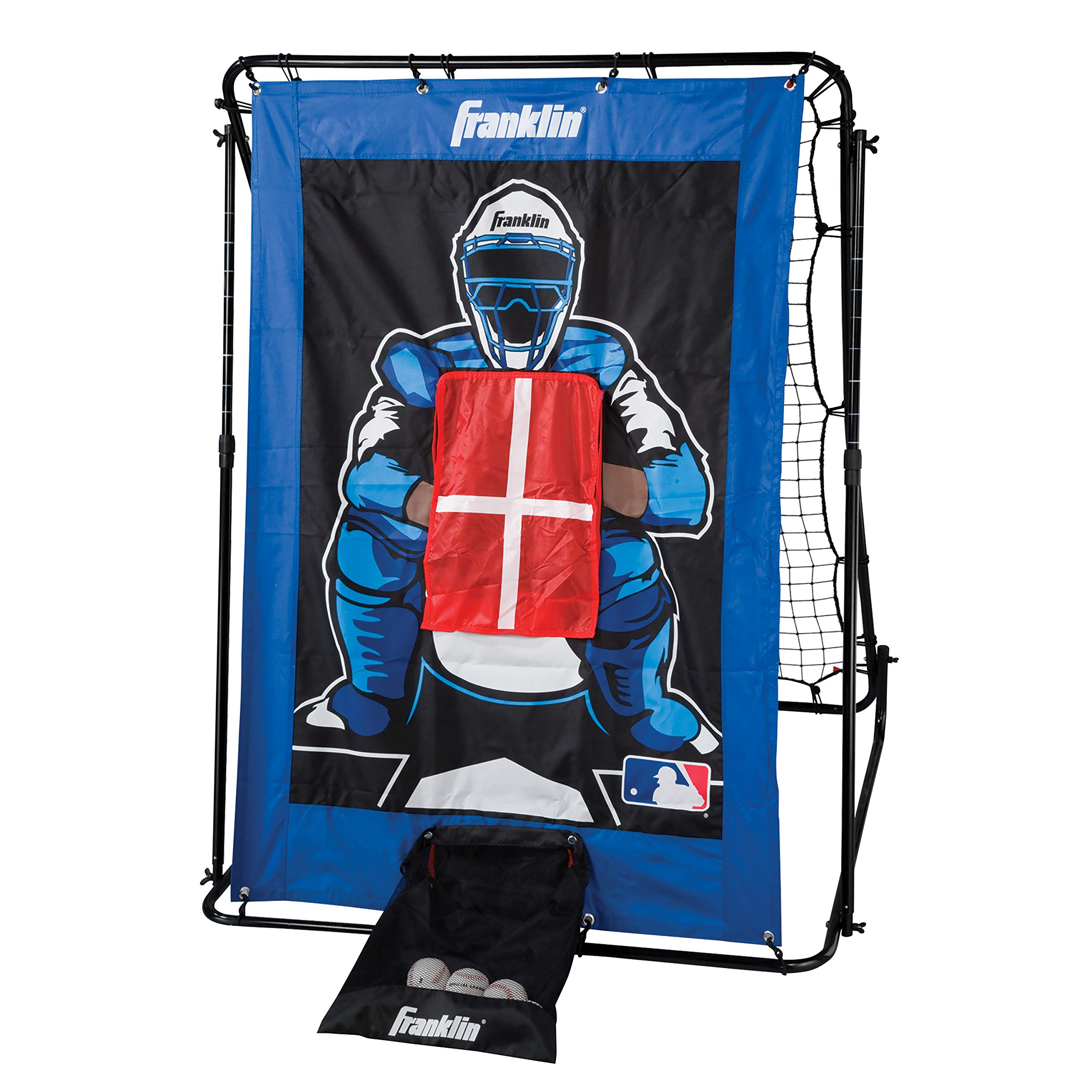 Franklin Sports Pitch Back baseball Rebounder and Pitching Target - 2 in 1 Return Trainer and Catcher Target - Great for Practices