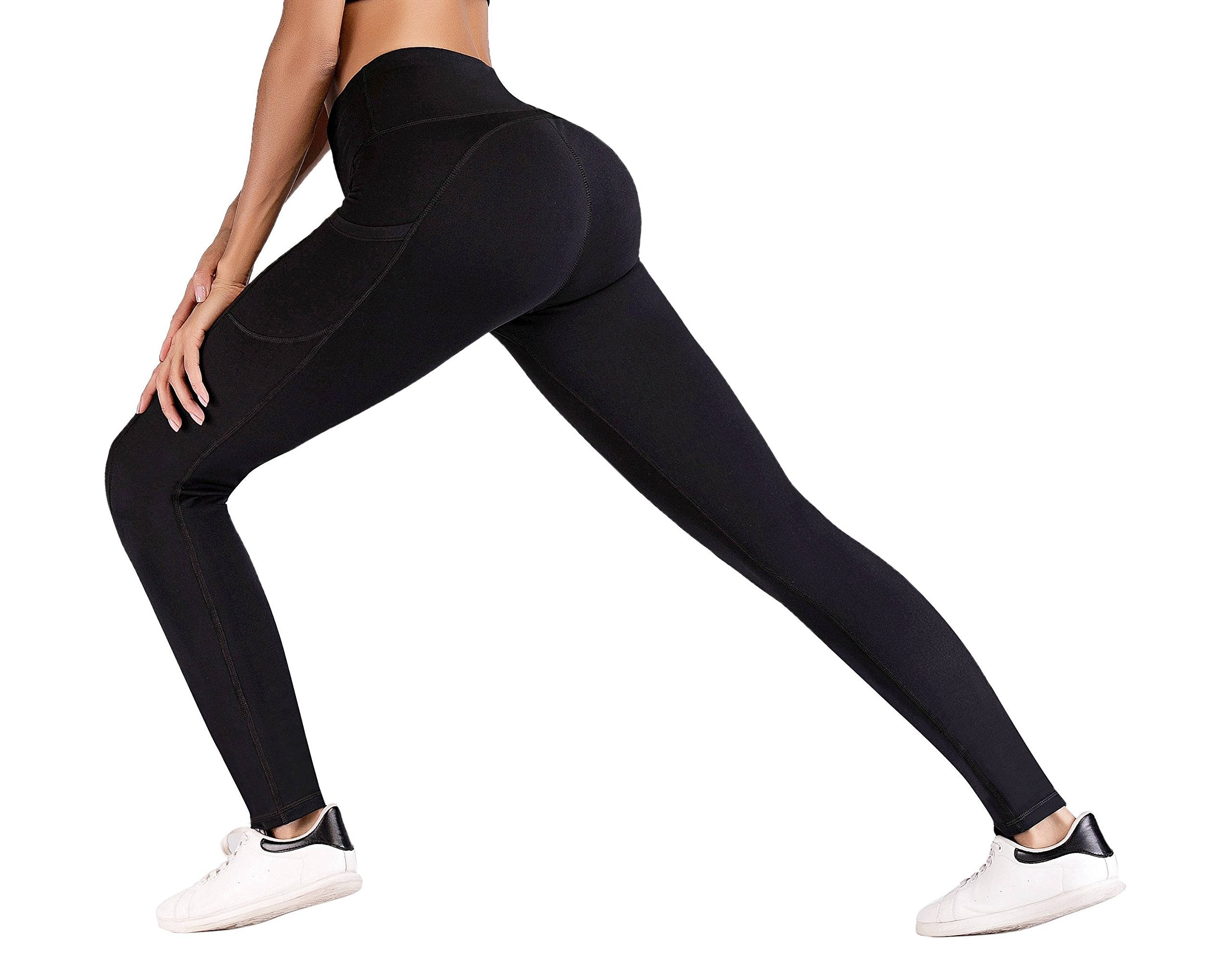 IUGA High Waist Yoga Pants with Pockets, Tummy Control, Workout Pants for Women 4 Way Stretch Yoga Leggings with Pockets - Ctfitnesswear