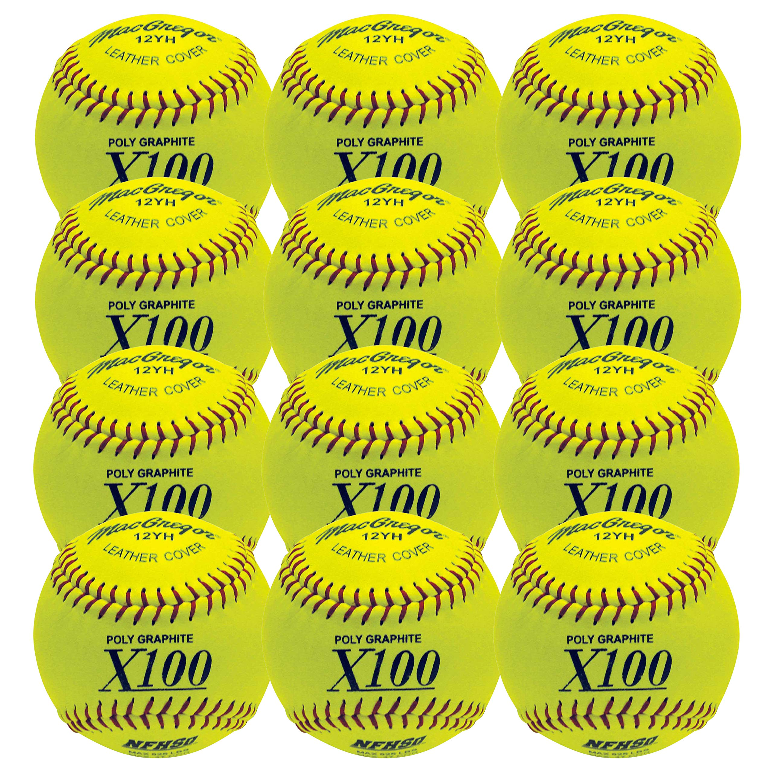 MacGregor NFHS Fast Pitch Softball, 12-inch (One Dozen) - Ctfitnesswear