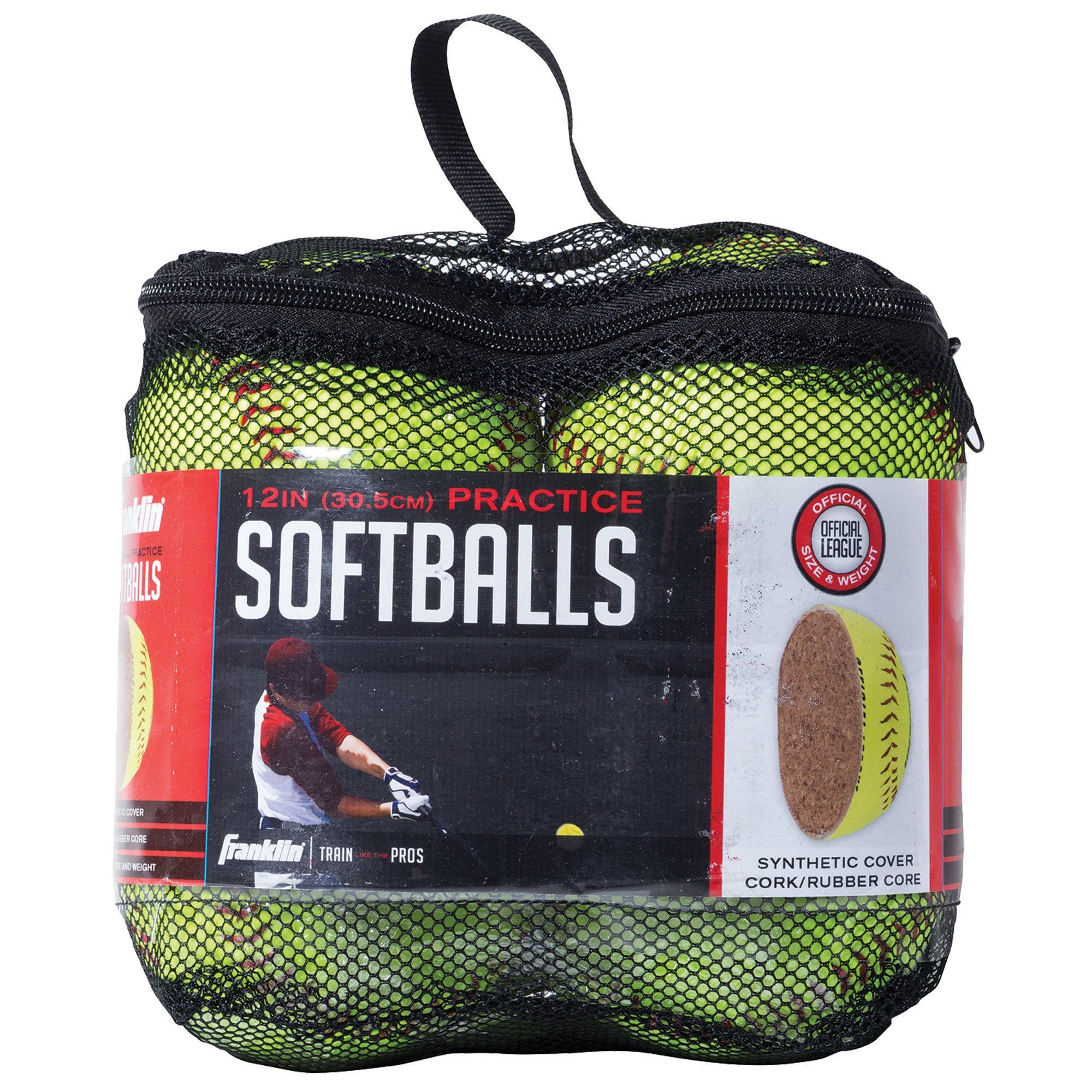 Franklin Sports Practice Softballs - Official Size and Weight Softball - Perfect For Softball Practice - Available in 1 and 4 Pack - 12 Inch Pack of 4 - Ctfitnesswear