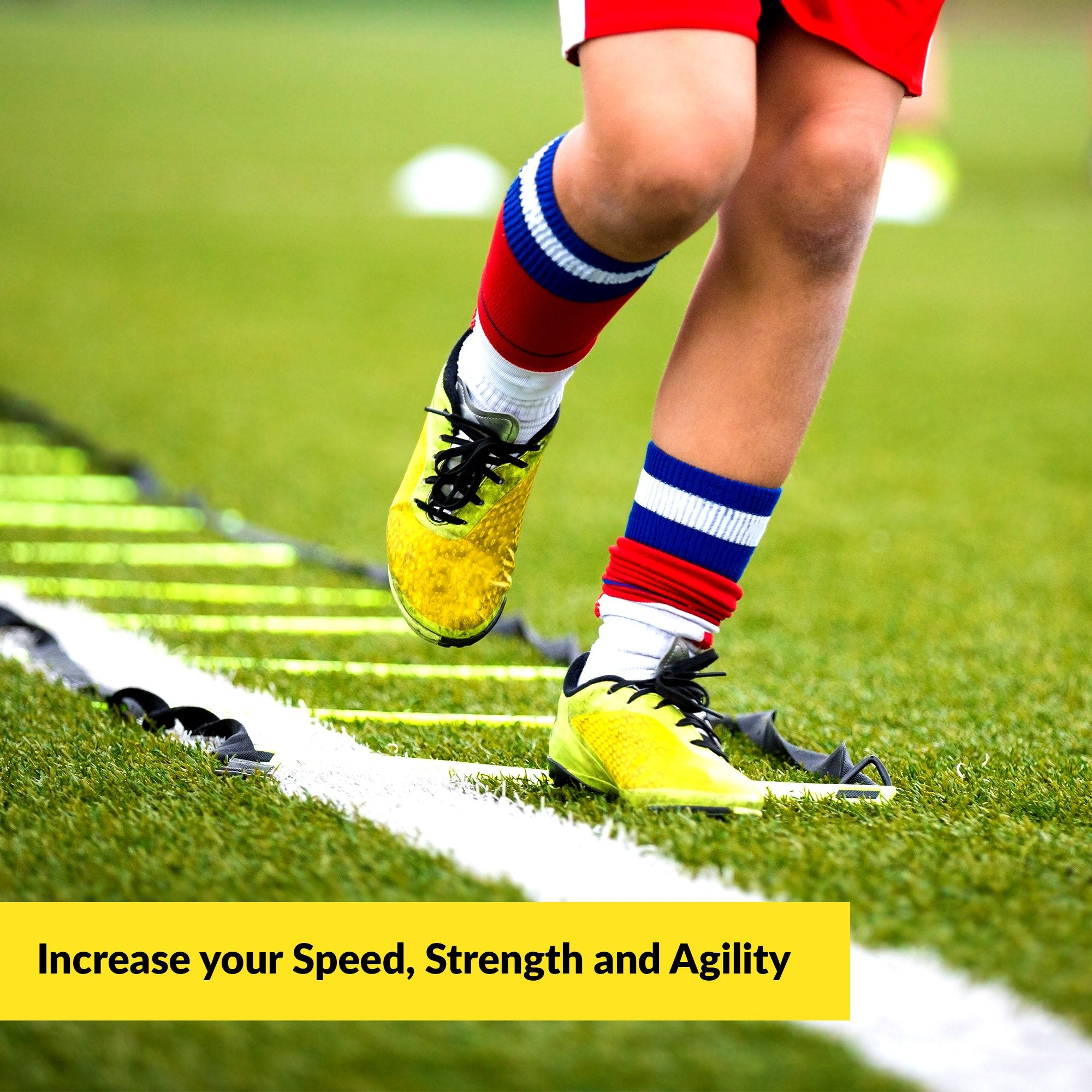 AGILITY LADDER Bundle By Trained 6 Sports Cones , Free Speed Chute, Agility Drills eBook and Carry Case - Ctfitnesswear