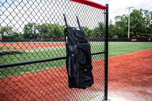 Miken Pro Player Wheeled Slowpitch Softball Bag, Holds 4 Bats (MKBG18-WB)