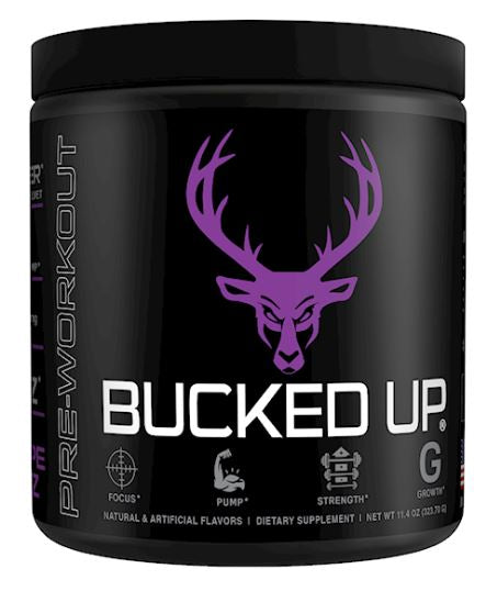 BUCKED UP Pre-Workout Grape flavoured