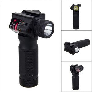 Foregrip Indoor Outdoor Flash Light Red Dot for 21mm Guide Rail CR123 battery
