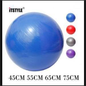 ITSTYLE Sports Yoga Balls Bola Pilates Fitness Gym Balance Fitball Exercise Pilates Workout Massage Ball 45cm 55cm 65cm 75cm kdo2rev