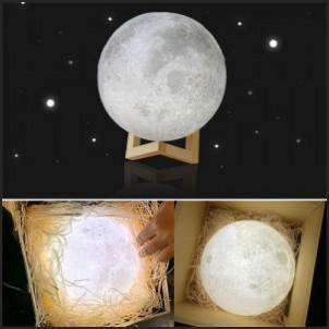 Rechargeable Moon Lamp 8-20cm Dia 3D Light Moon Lamp USB LED Light Touch Sensor 2/3/7 Colors Change Moon Lamp Bedroom Decor Gift kdo2rev