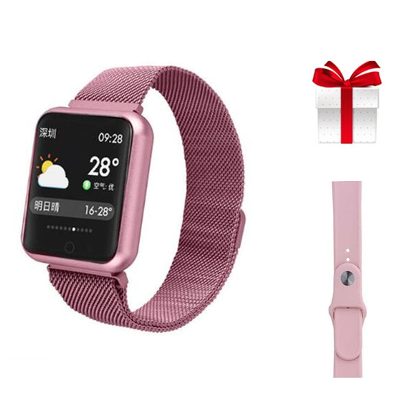 SMARTWATCH FITNESS IP68 + PULSEIRA EXTRA - ANDROID E IOS