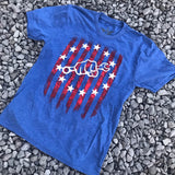 Limited Edition Stars and Stripes Tee - Busted Knuckle Gear