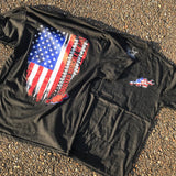MERICA Flag Tee - Busted Knuckle Gear