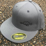 Flat Bill Flexfit Hats - Busted Knuckle Gear
