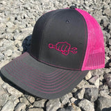 Neon Pink Busted Knuckle Snapback Trucker Hat