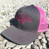 Pink Neon Busted Knuckle Gear Trucker Hat