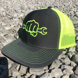 Yellow Neon Busted Knuckle Gear Trucker Hat