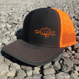 Orange Neon Busted Knuckle Gear Trucker Hat