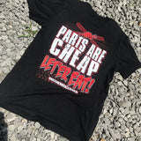 Parts are Cheap Let Er Eat Tee - Busted Knuckle Gear