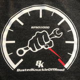Rev Limiter Tach Tee - Busted Knuckle Off Road - Busted Knuckle Gear