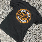 Work Hard Play Hard Tee - Knucklehead Garage - Busted Knuckle Gear
