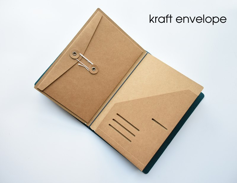 Classic Leather WITH CUSTOM ENGRAVING - 9 Piece Starter Pack | Traveler's Notebook