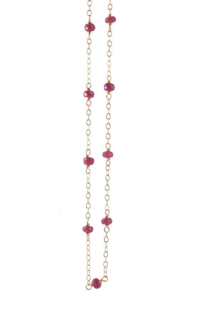 Ruby Delicate Bead Necklace