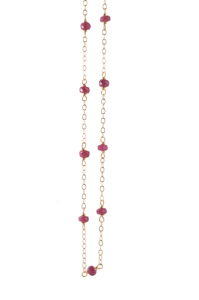 Gifts for Grads - Ruby Delicate Bead Necklace