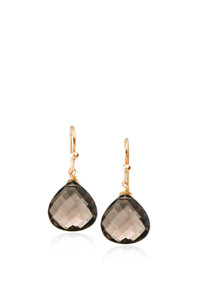 Gifts for Grads - Smoky Quartz Drop Earrings