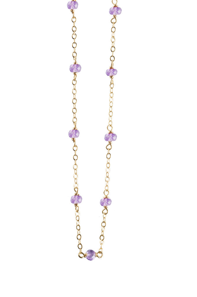 Amethyst Delicate Bead Necklace