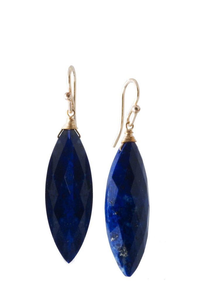 Lapis Lazuli Marquis Earrings