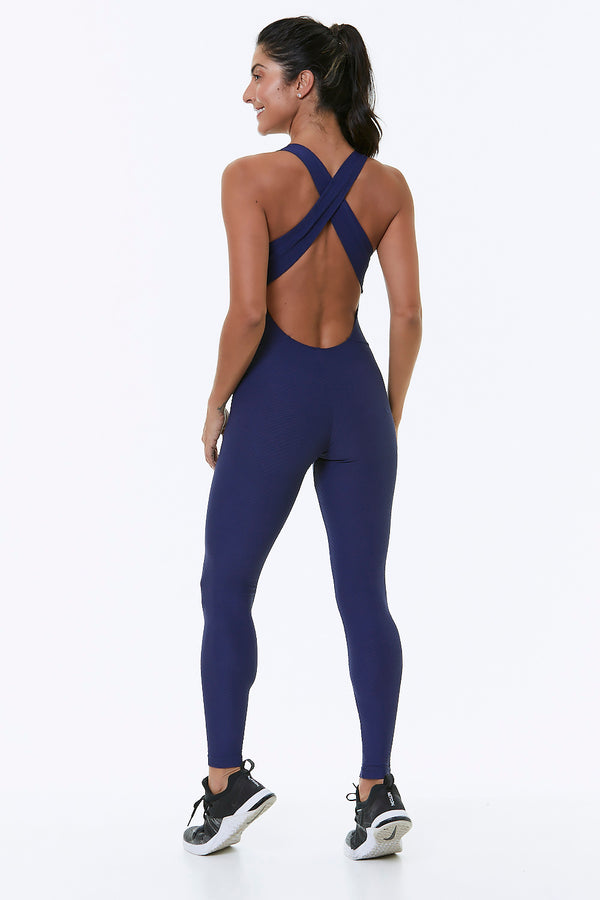 AXIS WORKOUT JUMPSUIT - NAVY