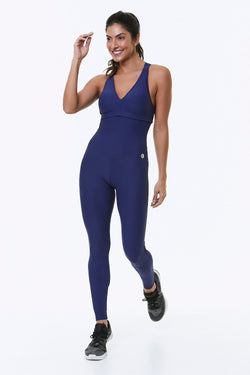 Navy Axis Workout Jumpsuit