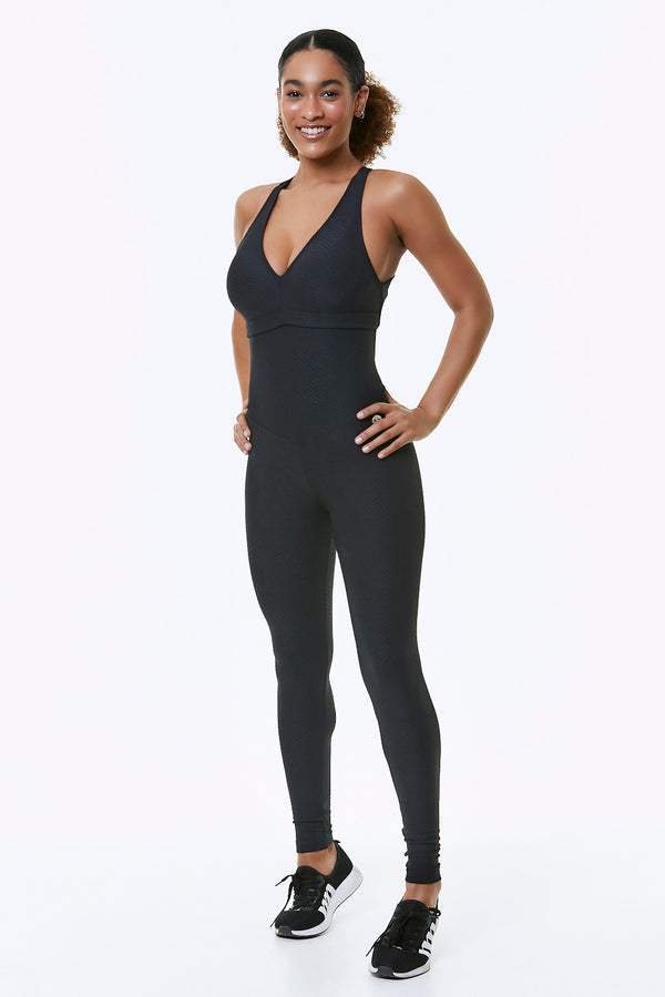 AXIS WORKOUT JUMPSUIT - BLACK