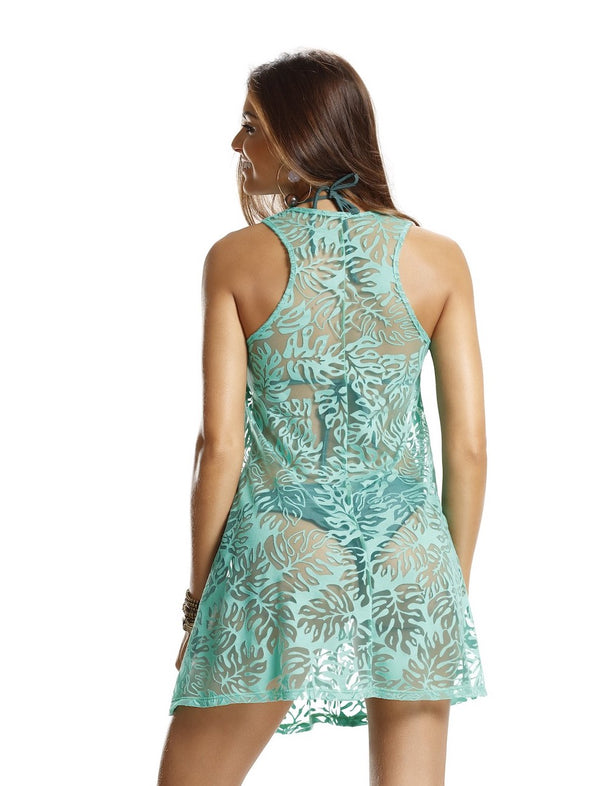 Sheer turquoise summer dress - Parati