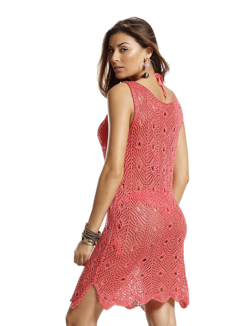 Tricot cover up dress - Coral Dreams
