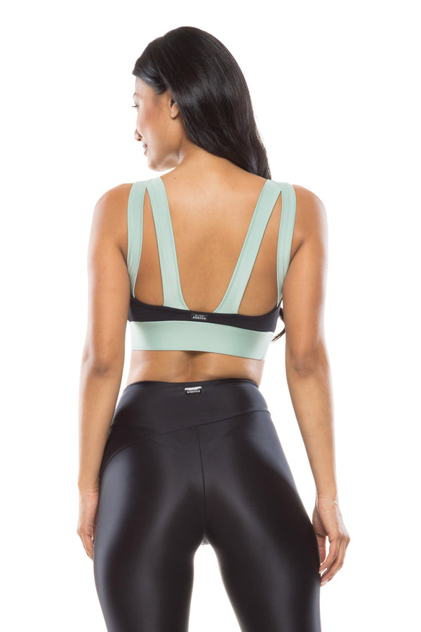 Mint Starlight Sports Bra