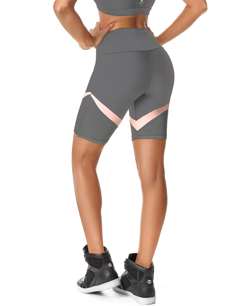 CALLE OCHO WOMEN GREY BIKER SHORTS