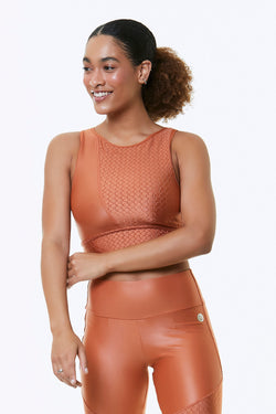 ORANGE BLOSSOM CROPPED SPORTS BRA