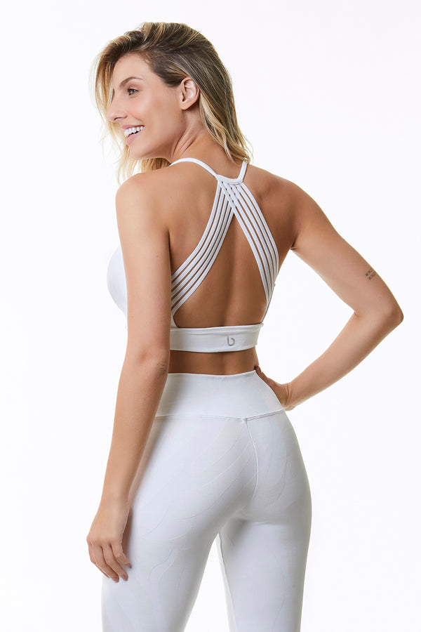 HYPE WHITE SPORTS BRA